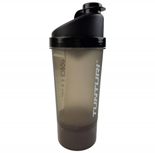 Tunturi Protein Shaker - Shakebeker met zeef en opslag - 600ml