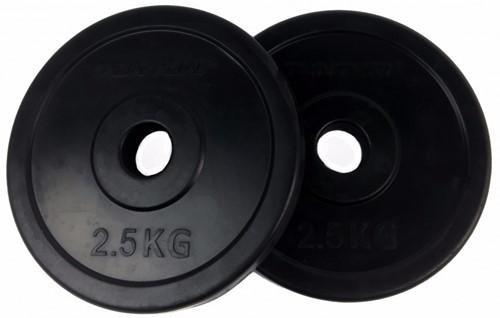 Tunturi Rubberen Halterschijf - 30 mm - 2 x 2,5 kg