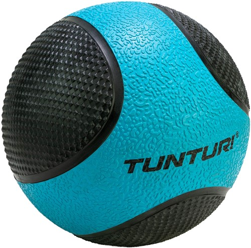 Tunturi Medicijnbal - Rubber - 4 kg - Blauw/Zwart