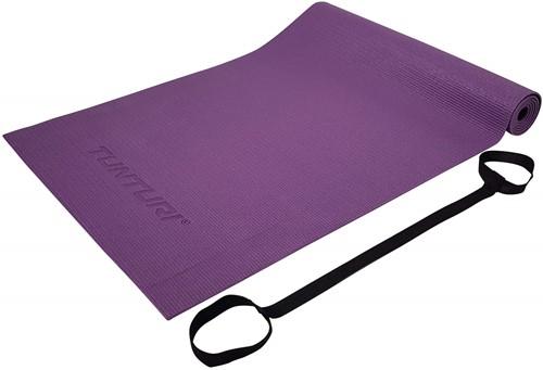 Tunturi PVC Yogamat - Fitnessmat - 182 x 61 x 0,4 cm - Paars