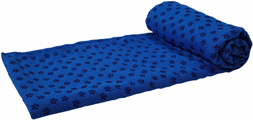 Tunturi Siliconen Yoga Handdoek - 183 x 67 cm - Blauw