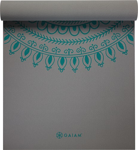 Gaiam Premium Extra Lange Yoga Mat - Teal Marrakesh