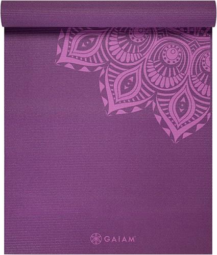 Gaiam Yoga Mat - 6 mm - Purple Mandala