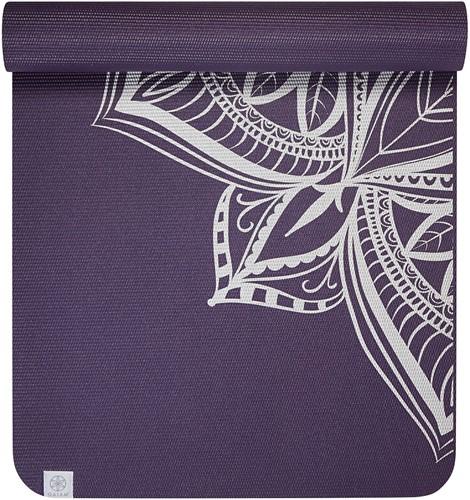 Gaiam Premium Metallic Yoga Mat - 6 mm - Aubergine Medallion