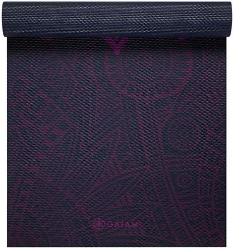 Gaiam Yoga Mat - 6 mm - Plum Sundial