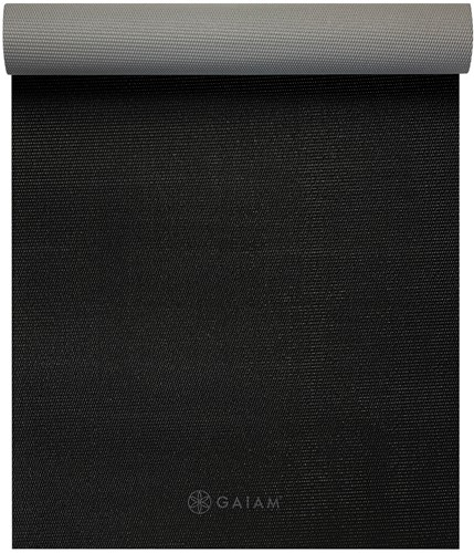 Gaiam 2-Color Yoga Mat - 4 mm - Granite Storm