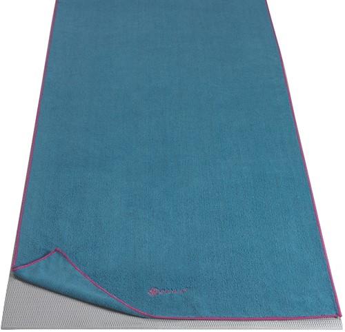 Gaiam Yoga Handdoek  - Vivid Blue / Fuchsia