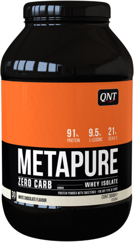 QNT Koolhydraatarm Zero Carb Metapure - 908g - White Chocolate