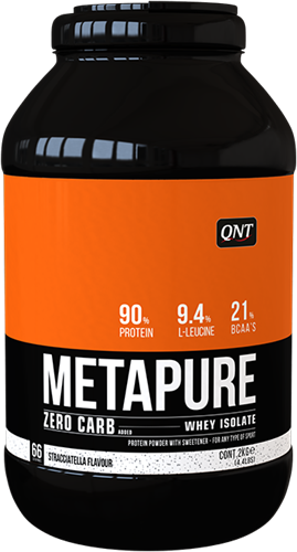 QNT Koolhydraatarm Zero Carb Metapure - 2000g - Stracciatella