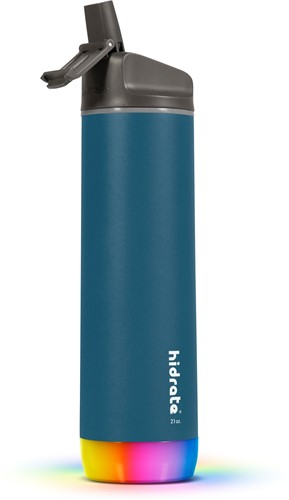 Hidrate Spark Steel Smart Waterfles - 620 ml - Straw - Deep Blue