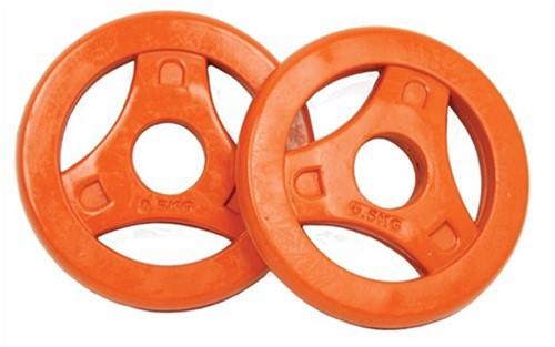 Tunturi Aerobic Schijven 0.5 kg Rubber (30 mm) 2 stuks