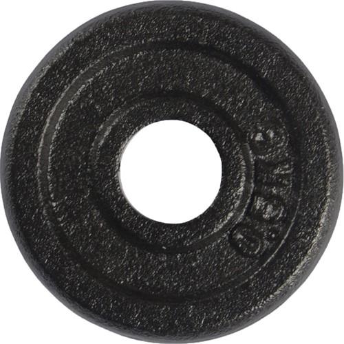 VirtuFit Gietijzeren Halterschijf - Halter gewicht - 30 mm - 0.5 kg - Zwart