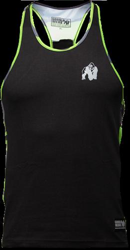 Gorilla Wear Sacramento Camo Mesh Tank Top - Zwart/Neon Groen