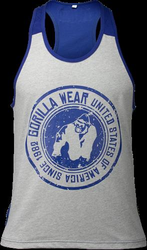 Gorilla Wear Roswell Tank Top - Grijs/Marineblauw