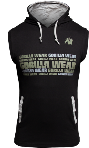 Gorilla Wear Melbourne Sleeveless Hooded T-shirt - Zwart