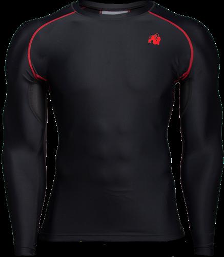 Gorilla Wear Hayden Compression Longsleeve - Zwart/Rood