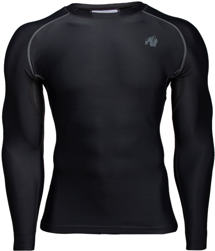 Gorilla Wear Hayden Compression Longsleeve - Zwart/Grijs