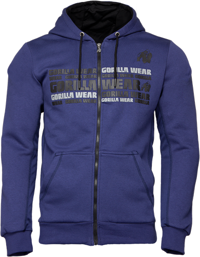 Gorilla Wear Bowie Mesh Zipped Hoodie - Marineblauw