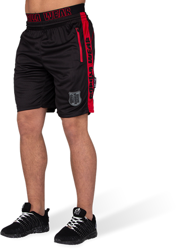 Gorilla Wear Shelby Shorts - Zwart/Rood