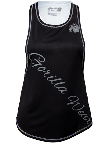 Gorilla Wear Florida Stringer Tank Top Zwart/Wit