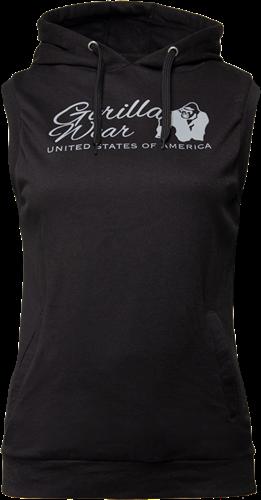 Gorilla Wear Selma Sleeveless Hoodie - Zwart