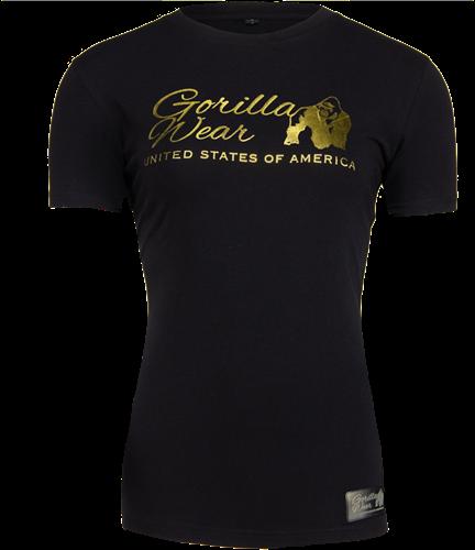 Gorilla Wear Luka T-shirt - Zwart/Goud