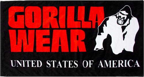 Gorilla Wear Classic Gym Towel - handdoek - Zwart/Rood
