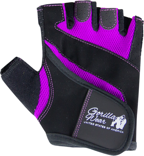 Gorilla Wear Womens Fitness Gloves - Fitness Handschoenen - Zwart/Paars
