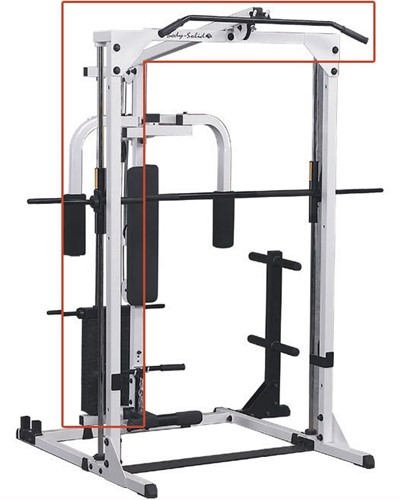 Body-Solid Grey Linear Bearing Smith Machine - Lat Attachment Uitbreiding