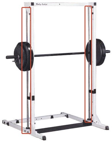 Body-Solid GLB48 Lineair Bearing Smith Machine Voor GBF48