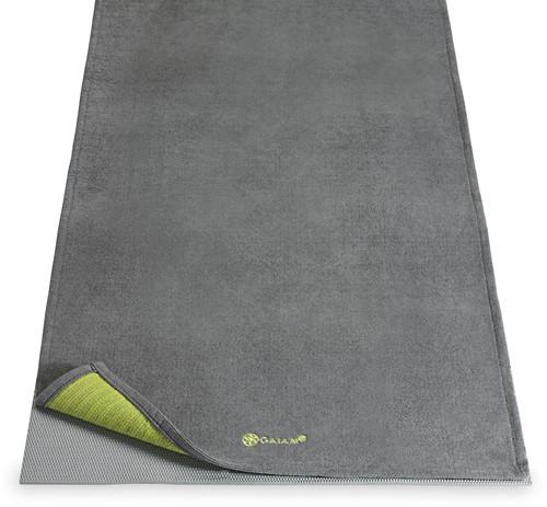 Gaiam Grippy Yoga Handdoek met Anti-slip - Citron/Storm