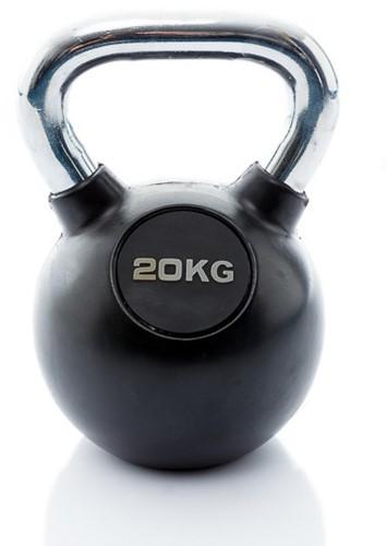 Muscle Power Rubberen Kettlebell - 20 kg