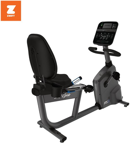 Life Fitness RS3 Track Connect Ligfiets - Gebruikt