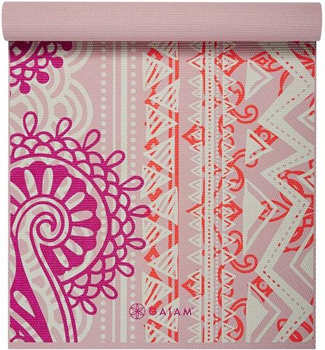 Gaiam Yoga Mat - 4 mm - Bohemian Rose