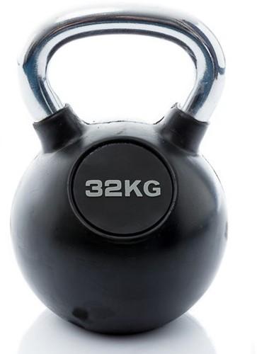 Muscle Power Rubberen Kettlebell - 32 kg