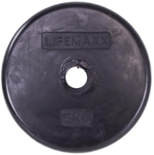 Lifemaxx LMX84 Halterschijf - Rubber - 30mm - 2,5kg - Per stuk