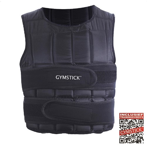 Gymstick Verstelbaar Gewichtsvest - 1 - 10 kg - Met Online Trainingsvideo's