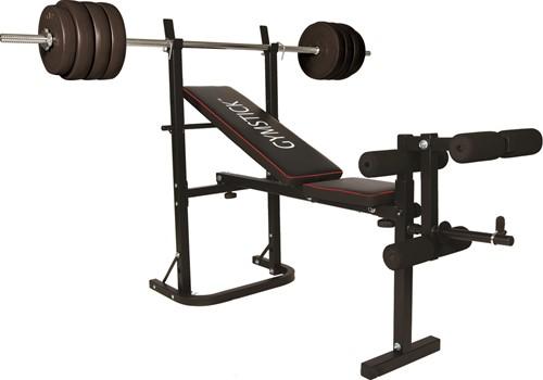 Gymstick Halterbank Met 40kg Gewichten