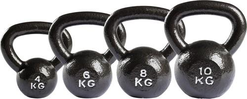 VirtuFit Kettlebell Set Gietijzer 4-6-8-10 kg