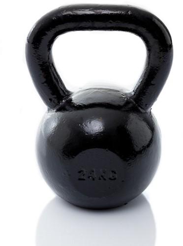 Muscle Power Gietijzeren Kettlebell - Zwart - 24 kg