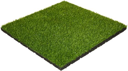 Rubber Tegel met Kunstgras Toplaag - 50 x 50 x 3 cm