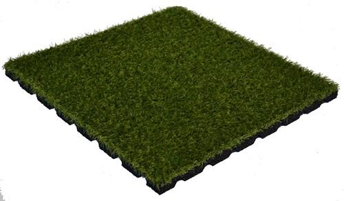Rubber Kunstgras Tegel - 100 x 100 x 2,5 cm - Groen