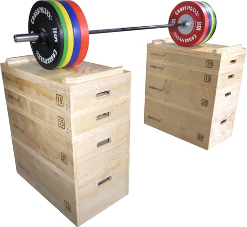 Lifemaxx Crossmax Wooden Jerk Block Set - Plyo Box Set