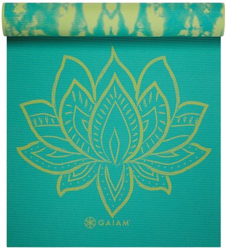 Gaiam Reversible Yoga Mat - 6 mm - Turquoise Lotus