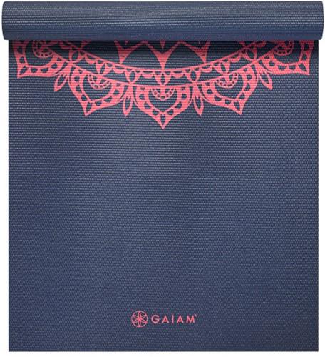 Gaiam Yoga Mat - 4 mm - Pink Marrakesh