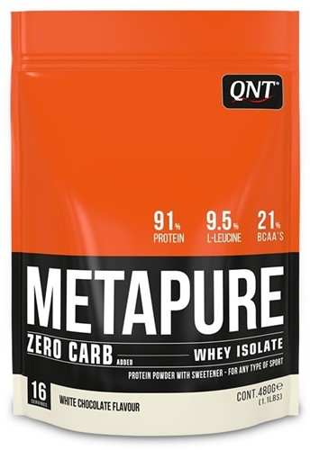 QNT Koolhydraatarm Zero Carb Metapure 480 gram White Chocolate