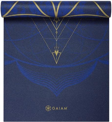 Gaiam Reversible Yoga Mat - 6 mm - Metallic Sun & Moon