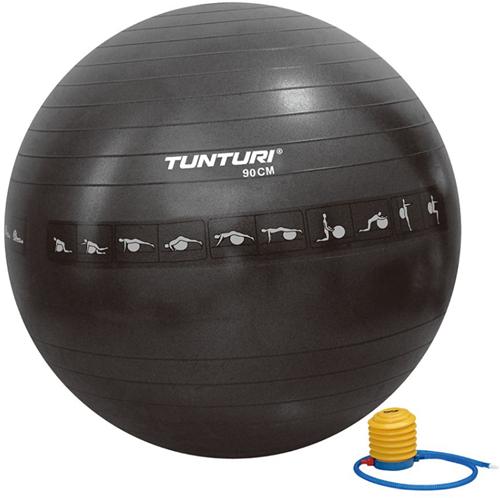 Tunturi Anti-Burst Fitnessbal Gymbal Zwart - 90 cm
