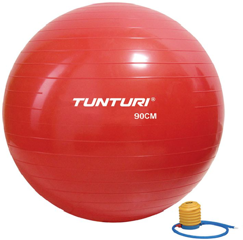 Tunturi Fitnessbal Gymbal Rood - 90 cm