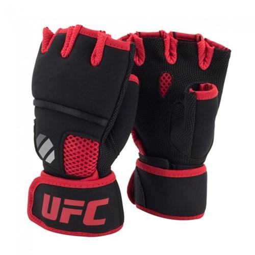 UFC Contender Quick Wrap Binnenhandschoenen Met Gel-Padding - Zwart/Rood
